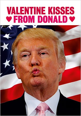 Kisses From Donald Valentine's Card