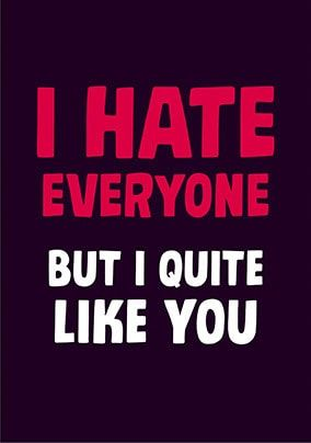 Hate Everyone Card