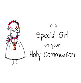 Holy Communion Special Girl Card