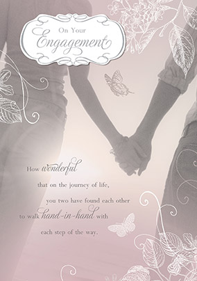 romantic on your engagement card - Engagement Cards