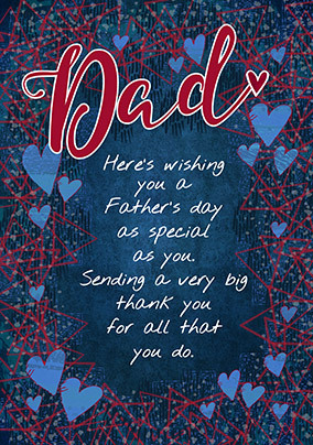 Dad Wishing you a Happy Father's Day Card