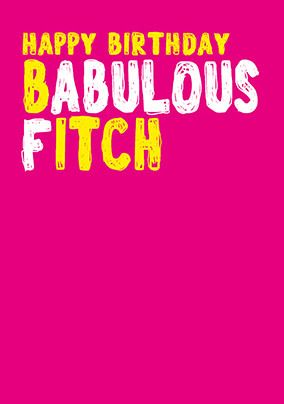 Babulous Fitch Card