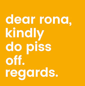 Dear Rona Card