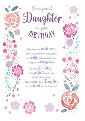 Daughter Birthday Cards - Unique & Special | Funky Pigeon