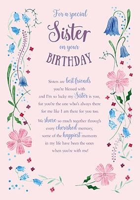 Special Sister Birthday Card Funky Pigeon