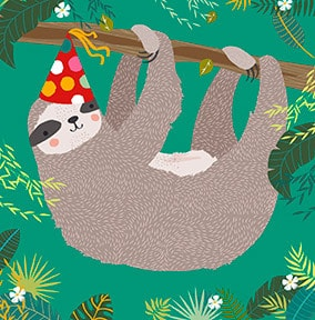 Boy's Sloth Card