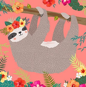 Girl's Sloth Card