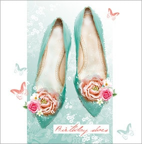 Birthday Wishes Heels Card