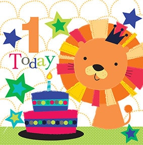 1 Today Lion Birthday Card