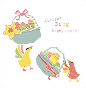 Alright Duck Easter Card