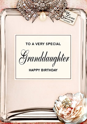 Love Labels Birthday Card - Granddaughter