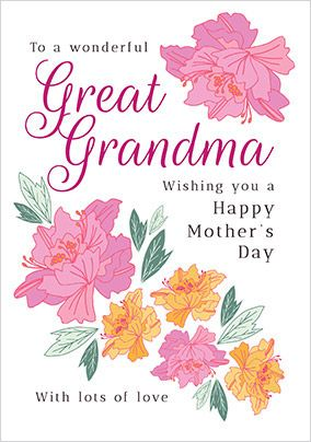 Great Grandma Floral Mother's Day Card