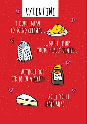 Cheesy Valentine's Day Card