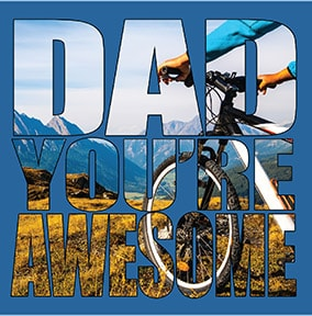 Awesome Biking Dad Father's Day Card
