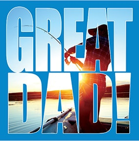 Great Dad Fishing Father's Day Card