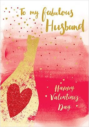 Fabulous Husband Valentine's Day Card