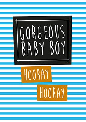 Gorgeous Baby Boy Card