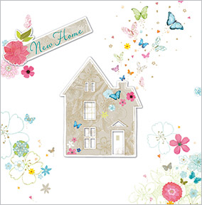 Butterfly House New Home Card