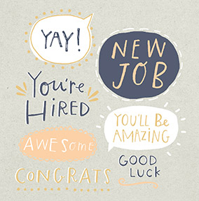 Awesome New Job Congratulations Card