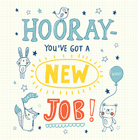 New job cards funky pigeon hooray new job congratulations card m4hsunfo