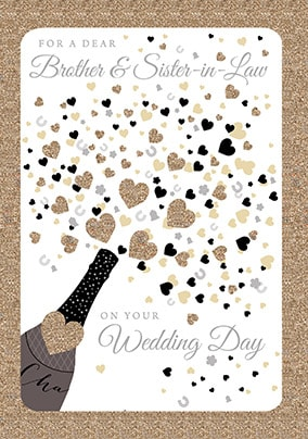 Brother and Sister-In-Law Wedding Day Card