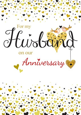 For My Husband Anniversary Card