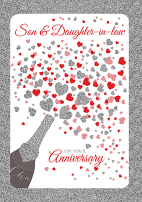 Anniversary Cards Son Daughter In Law Funky Pigeon