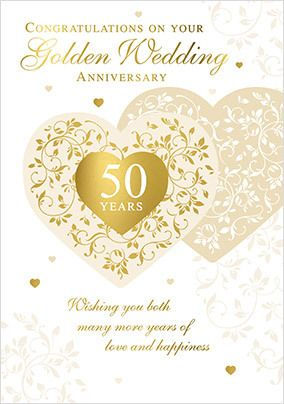 Congrats on Your Golden Anniversary Card