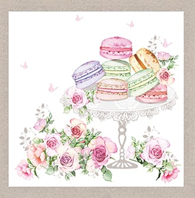Macaroons Birthday Card