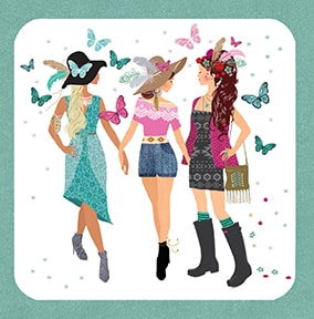 Festival Girls Birthday Card
