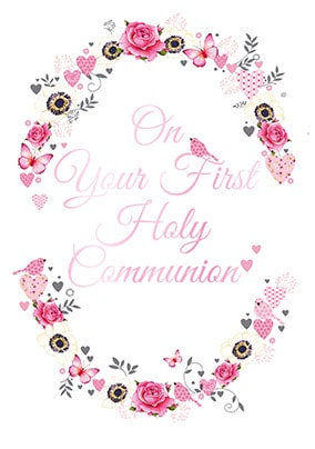 image about First Holy Communion Cards Printable Free identified as Holy Communion Playing cards Funky Pigeon