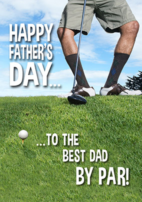 Best Dad By Par Father's Day Card