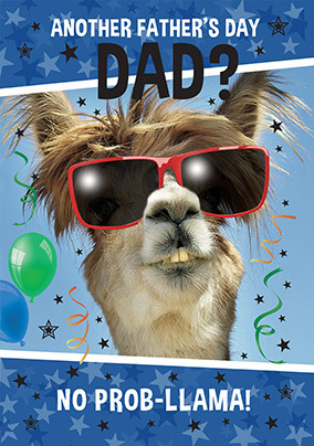 Another Father's Day? No Prob-llama Card