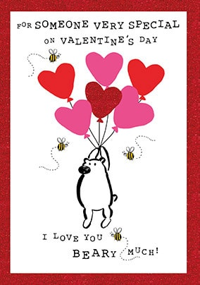 Love You Beary Much Valentine's Card