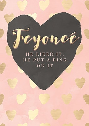 Feyonce Engagement Card