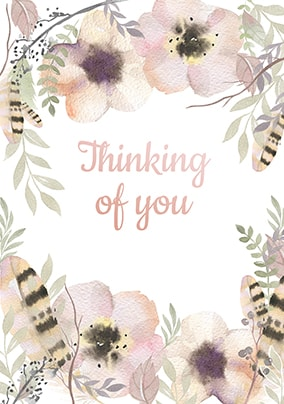 thinking of you sympathy card funky pigeon