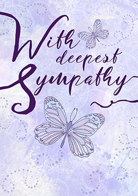 with deepest sympathy card - Sympathy Cards
