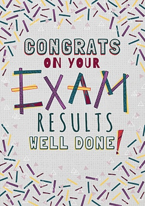 Congrats On Your Exam Results Card