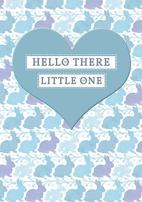 Hello There Little One - Baby Boy Card