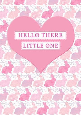 Hello There Little One - Baby Girl Card