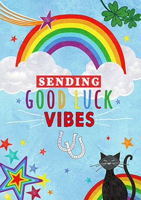 Good Luck Vibes Card