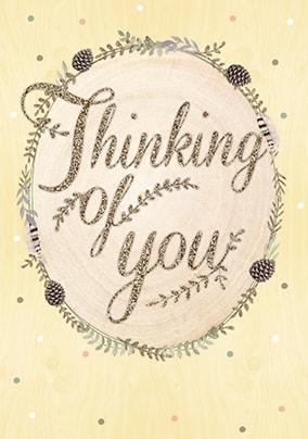thinking of you sympathy card wood wonderland funky pigeon