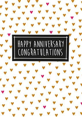 Happy Anniversary Congratulation Card
