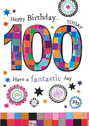 100 Today Birthday Card - Mosaic