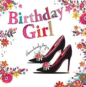 Birthday Girl Shoes Card