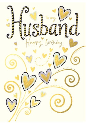 Husband Happy Birthday Card
