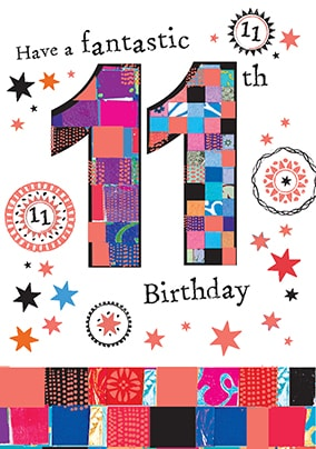 Fantastic 11th Birthday Card