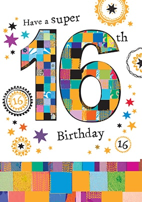 Super 16th Birthday Card YES Preview Image Is Not Found