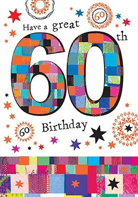 Great 60th Birthday Card