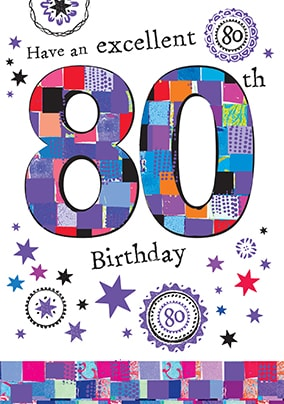 Excellent 80th Birthday Card